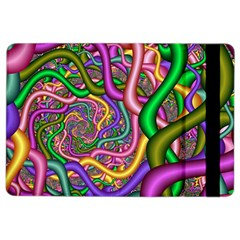 Fractal Background With Tangled Color Hoses Ipad Air 2 Flip