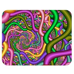 Fractal Background With Tangled Color Hoses Double Sided Flano Blanket (medium)