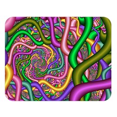Fractal Background With Tangled Color Hoses Double Sided Flano Blanket (large)