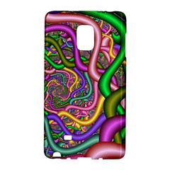 Fractal Background With Tangled Color Hoses Galaxy Note Edge