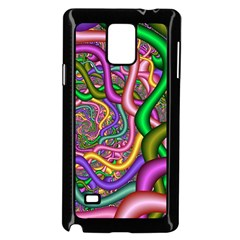 Fractal Background With Tangled Color Hoses Samsung Galaxy Note 4 Case (Black)