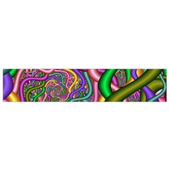 Fractal Background With Tangled Color Hoses Flano Scarf (Small)