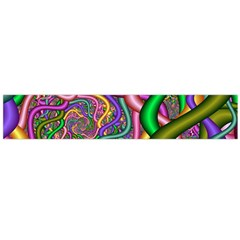 Fractal Background With Tangled Color Hoses Flano Scarf (large)