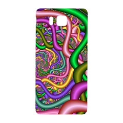 Fractal Background With Tangled Color Hoses Samsung Galaxy Alpha Hardshell Back Case