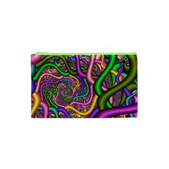 Fractal Background With Tangled Color Hoses Cosmetic Bag (xs)