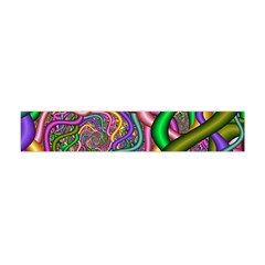Fractal Background With Tangled Color Hoses Flano Scarf (Mini)