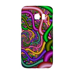 Fractal Background With Tangled Color Hoses Galaxy S6 Edge