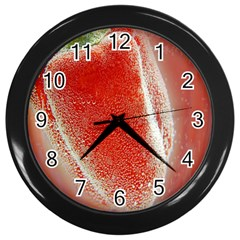 Red Pepper And Bubbles Wall Clocks (black)
