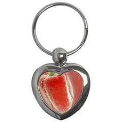 Red Pepper And Bubbles Key Chains (heart)