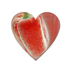 Red Pepper And Bubbles Heart Magnet
