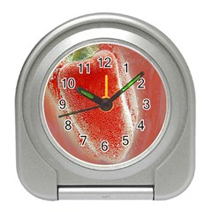 Red Pepper And Bubbles Travel Alarm Clocks
