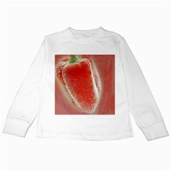 Red Pepper And Bubbles Kids Long Sleeve T-Shirts