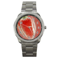 Red Pepper And Bubbles Sport Metal Watch