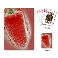 Red Pepper And Bubbles Playing Card