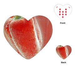 Red Pepper And Bubbles Playing Cards (heart)
