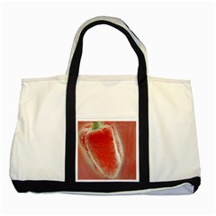 Red Pepper And Bubbles Two Tone Tote Bag