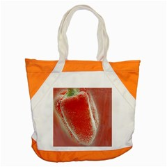 Red Pepper And Bubbles Accent Tote Bag