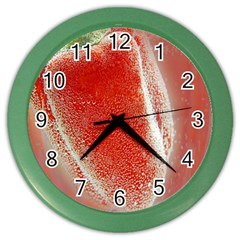 Red Pepper And Bubbles Color Wall Clocks