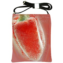 Red Pepper And Bubbles Shoulder Sling Bags
