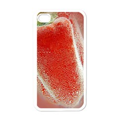 Red Pepper And Bubbles Apple iPhone 4 Case (White)
