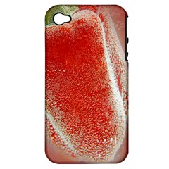 Red Pepper And Bubbles Apple iPhone 4/4S Hardshell Case (PC+Silicone)