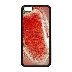 Red Pepper And Bubbles Apple Iphone 5c Seamless Case (black)