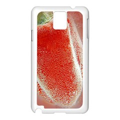 Red Pepper And Bubbles Samsung Galaxy Note 3 N9005 Case (white)