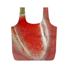 Red Pepper And Bubbles Full Print Recycle Bags (m)