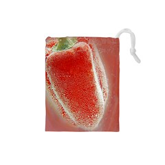 Red Pepper And Bubbles Drawstring Pouches (Small)