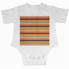 Abstract Vintage Lines Background Pattern Infant Creepers