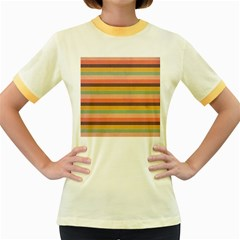 Abstract Vintage Lines Background Pattern Women s Fitted Ringer T Shirts