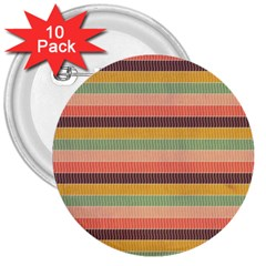 Abstract Vintage Lines Background Pattern 3  Buttons (10 Pack)