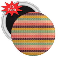 Abstract Vintage Lines Background Pattern 3  Magnets (10 Pack)