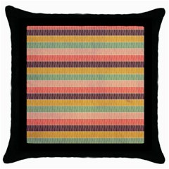 Abstract Vintage Lines Background Pattern Throw Pillow Case (black)
