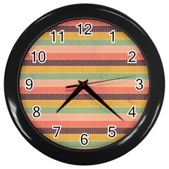 Abstract Vintage Lines Background Pattern Wall Clocks (black)