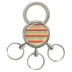 Abstract Vintage Lines Background Pattern 3 Ring Key Chains