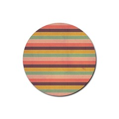 Abstract Vintage Lines Background Pattern Rubber Round Coaster (4 pack)