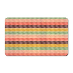 Abstract Vintage Lines Background Pattern Magnet (Rectangular)