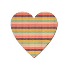 Abstract Vintage Lines Background Pattern Heart Magnet