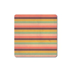 Abstract Vintage Lines Background Pattern Square Magnet