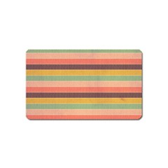 Abstract Vintage Lines Background Pattern Magnet (name Card)