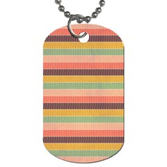 Abstract Vintage Lines Background Pattern Dog Tag (one Side)