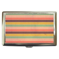 Abstract Vintage Lines Background Pattern Cigarette Money Cases
