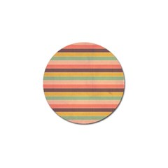 Abstract Vintage Lines Background Pattern Golf Ball Marker