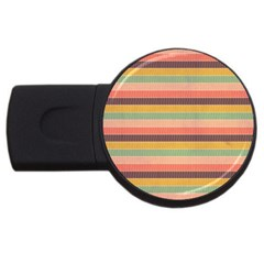 Abstract Vintage Lines Background Pattern Usb Flash Drive Round (2 Gb)