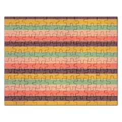 Abstract Vintage Lines Background Pattern Rectangular Jigsaw Puzzl