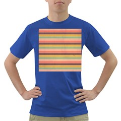 Abstract Vintage Lines Background Pattern Dark T Shirt
