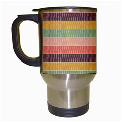Abstract Vintage Lines Background Pattern Travel Mugs (white)