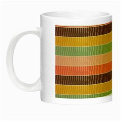 Abstract Vintage Lines Background Pattern Night Luminous Mugs