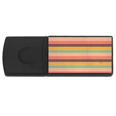 Abstract Vintage Lines Background Pattern Usb Flash Drive Rectangular (4 Gb)